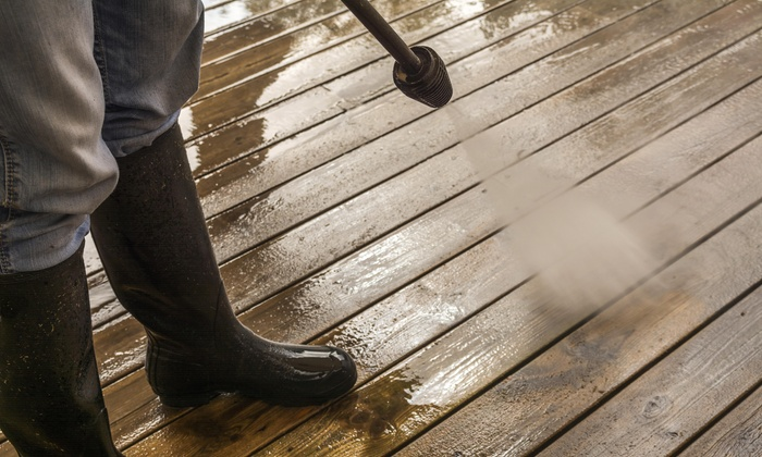 American Pro Washer - Houston: Sidewalk or Concrete Pressure Washing from American Pro Washer (55% Off)