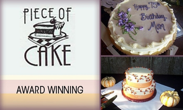 Piece of Cake Catering  - Sellwood - Moreland Improvement League: $22 for Gluten-free, Vegan, or Regular Double Layer Cake from Piece of Cake Bakery ($45 Value)