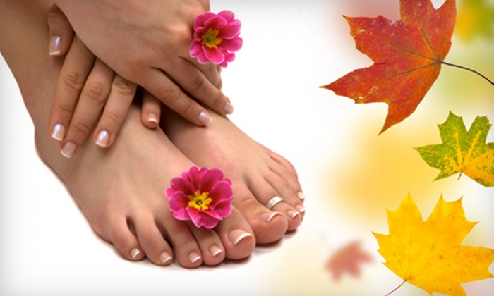 Euphoria Salon & Spa - Webster: $40 for a Pumpkin Spice Mani-Pedi at Euphoria Salon & Spa in Webster ($80 Value)