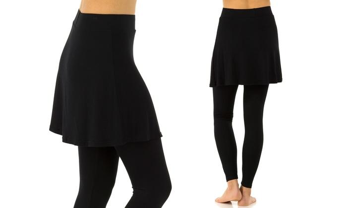d120ba4ae33ef5 Sociology Women's Skirted Leggings (Size L/XL) | Groupon