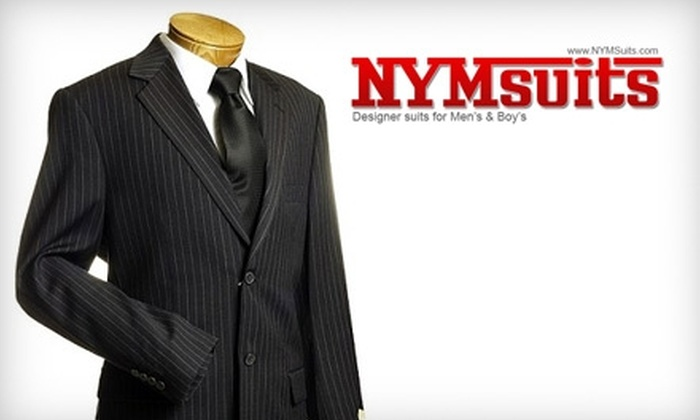 New York Man Suits - Multiple Locations: $25 for $50 Worth of Suits, Clothing & More at New York Man Suits in Staten Island