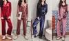 Trimmed Velvet Pyjama Set