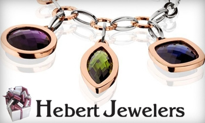Hebert Jewelers - Downtown / Harbor / Post Road South: $25 for $50 Worth of Jewelry at Hebert Jewelers in Milford