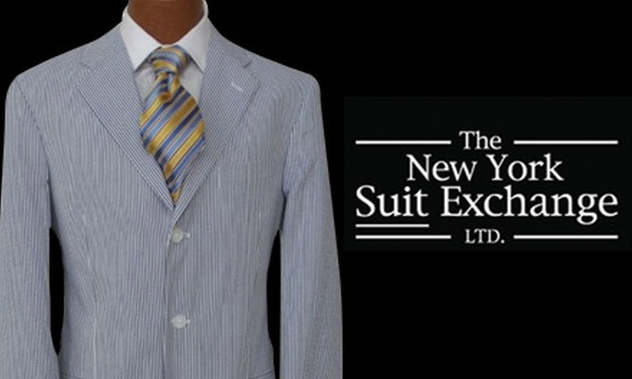The New York Suit Exchange - Multiple Locations: $25 for $50 Worth of Men's Attire at The New York Suit Exchange