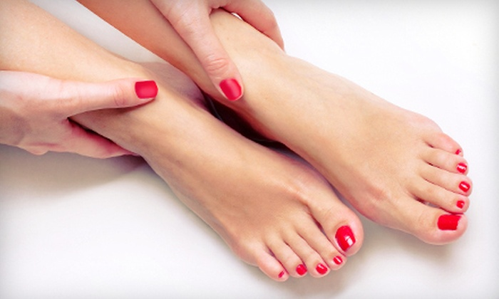 Quick Stop Hair Shop - Victoria: Shellac Manicure or Regular Mani-Pedi at Quick Stop Hair Shop in Langford (Up to 51% Off)