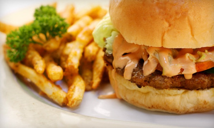 Urbn Burgr - Bayside: Burger Combo Meal with a Side and Drink for Two or Four at Urbn Burgr in Bayside (Up to 62% Off)