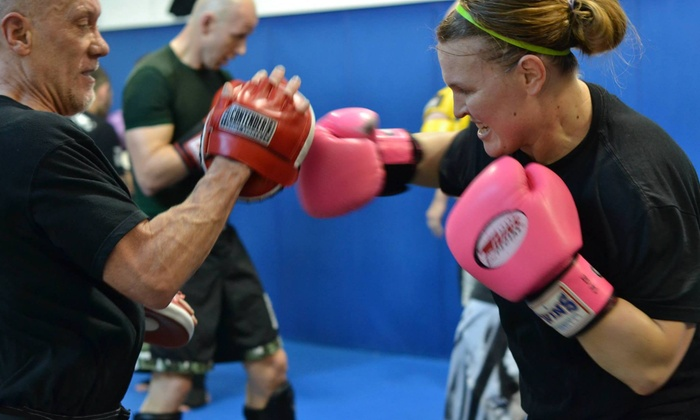 Charlie's Combat Club - Port Gardner: Four Weeks of Unlimited Boxing or Kickboxing Classes at Pearson's Black Belt Academy (77% Off)
