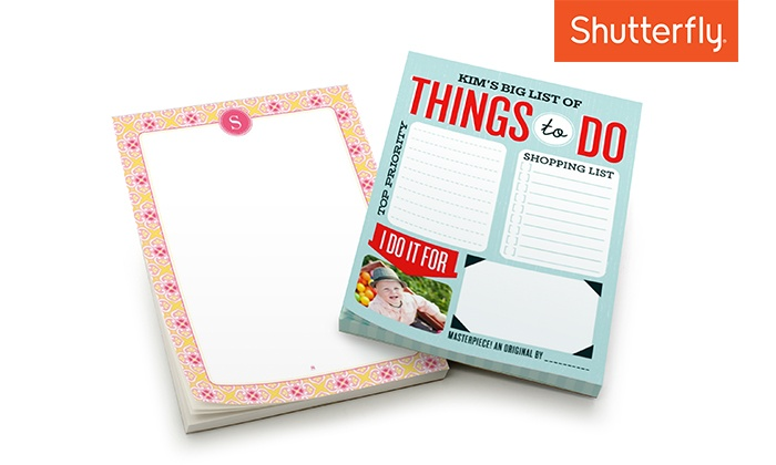 Shutterfly: One Custom 5x7 Stationery Notepad