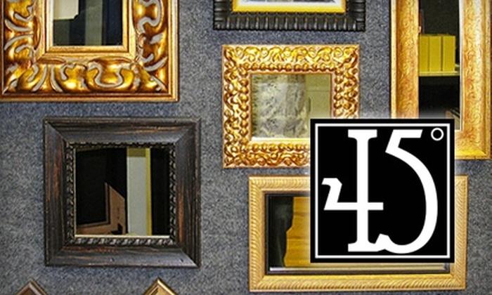 45 Degree Custom Picture Framing - Old Colorado City: $45 for $100 Worth of Custom Framing from 45 Degree Custom Picture Framing