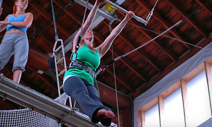 Emerald City Trapeze Arts - Industrial District East: $37 for a Two-Hour Flying Trapeze Class with Waived Registration Fee at Emerald City Trapeze Arts ($74 Value)