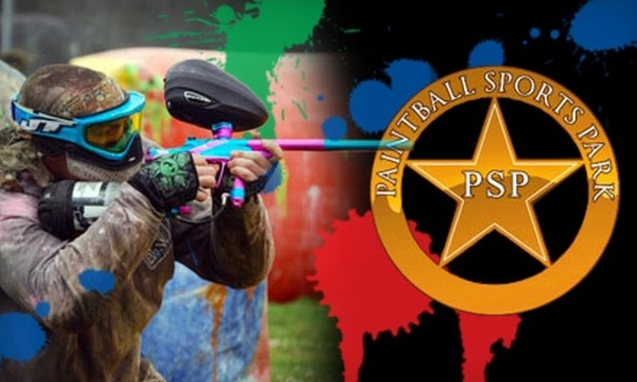 Paintball Sports Park - Puyallup: $25 for All-Day Individual Play, Equipment Rental, Air & 250 Paintballs (Up to $50 Value) or $25 for Five All-Day Plays, Equipment Rental & Air (Up to $225 Value) at Paintball Sports Park