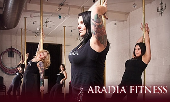 Aradia Fitness - Multiple Locations: $39 for Four Weeks of Pole Basics: Introductory Pole Dancing Classes at Aradia Fitness ($111.87 Value)