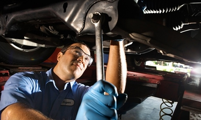 Best One Tire and Service - Multiple Locations: $29 for an Oil Change, Wiper-Blade Replacement, Tire Rotation, and Nitrogen-Tire Inflation at Best One Tire and Service ($120 Value)