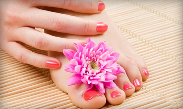 Nails by Dominica - Van Ness Extension: Mani-Pedi or Rockstar Pedicure at Nails by Dominica (Up to 52% Off)