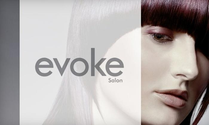 Evoke Salon - Davisville: $39 for a Haircut, Moisturizing Treatment, and Blow-Dry at Evoke Salon (Up to $80 Value)