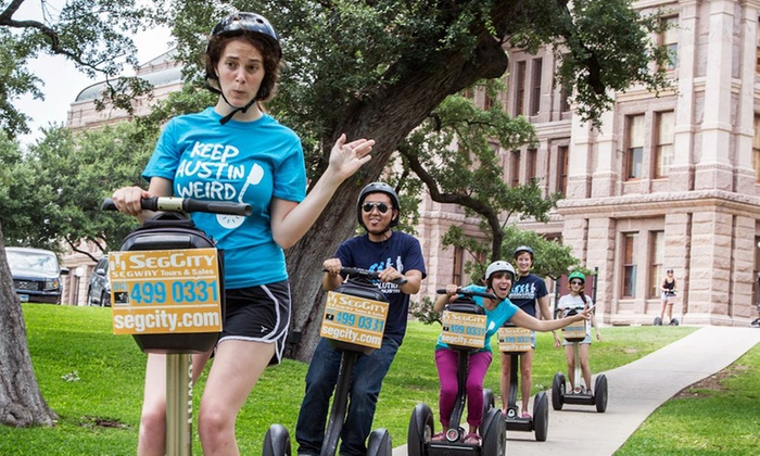 "SegCity - Austin - Downtown: ""Segway Cruise"" or ""Street Art Cruise"" Tour for One, Two, or Four from SegCity (Up to 53% Off)"
