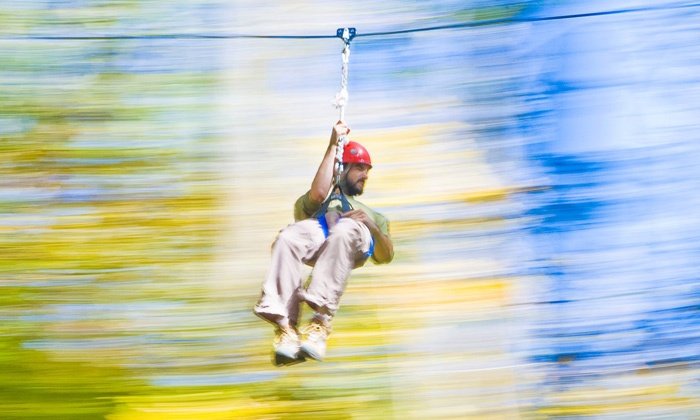 Adventureworks - Kingston Springs: 90-Minute Zipline Tour for Two Adults or Two Adults and Two Children at Adventureworks (Up to 50% Off)