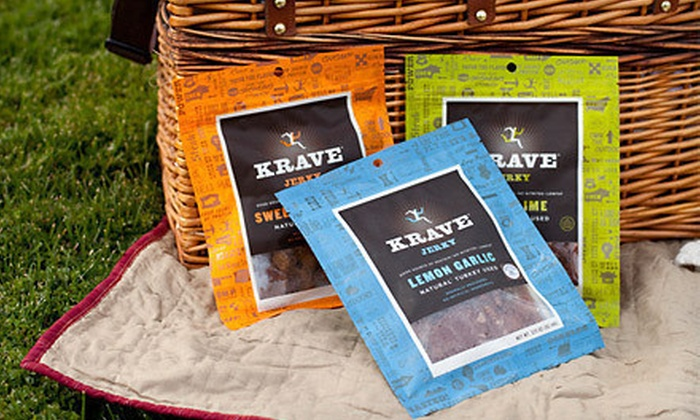 Krave Premium Gourmet Jerky Seven-Pack: $24 for a Krave Premium Gourmet Jerky Seven-Pack Bundle ($49 List Price)