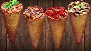 L'cone pizza: Menu pizza cone XL au choix pour 2, 4 ou 6 personnes dès 9,90 € au restaurant L'cone pizza