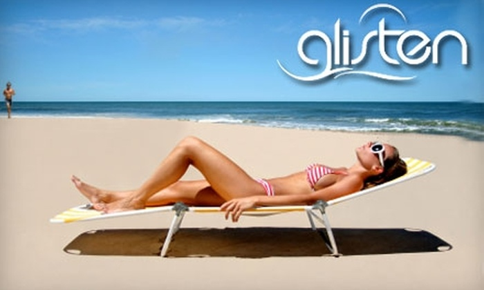 Glisten Sunless Tanning - Sterling Farms: $15 for One Glisten Organic Spray-Tan Session at Glisten Sunless Tanning