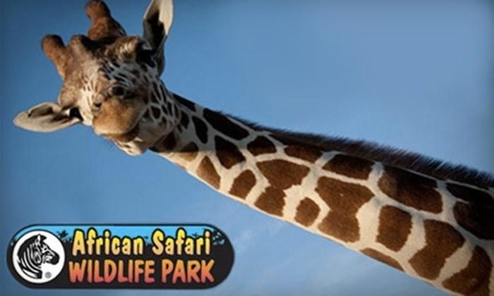 African Safari Wildlife Park - Danbury: $5 for One Ticket to the African Safari Wildlife Park in Port Clinton ($17.95 Value)
