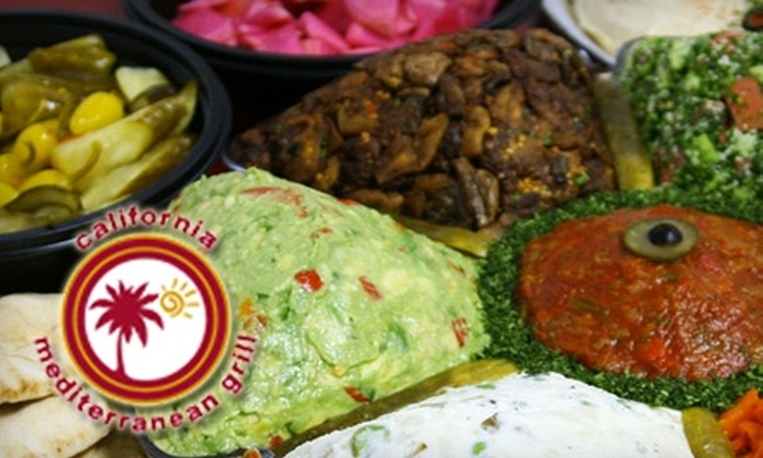 California Mediterranean Grill - Encino: $130 for Large Middle Eastern Party Platter from California Mediterranean Grill in Encino ($220 Value)