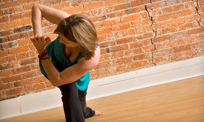 Elemental Om - Montgomery: $15 for Three-Class Yoga Pass at Elemental Om (Up to $39 Value)