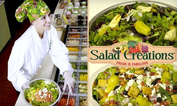 Salad Creations - Far West Side: $5 for $10 Worth of Custom Salads, Wraps, and Paninis at Salad Creations
