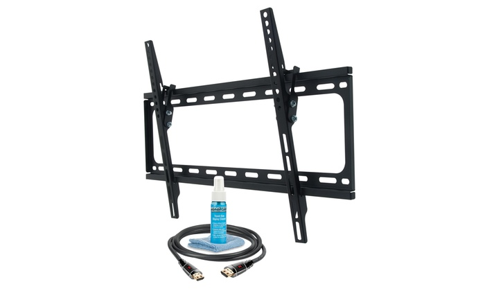 Monster Tilting TV Mount for Most 30–65 TVs with HDMI Cable, Screen-Cleaning Solution, and Cloth