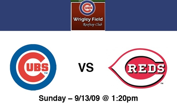 Wrigley Rooftop Club - Lakeview: Rooftop Tickets to Cubs vs Reds on 9/13 at 1:20 pm at Wrigley Rooftop: More Dates Available Below