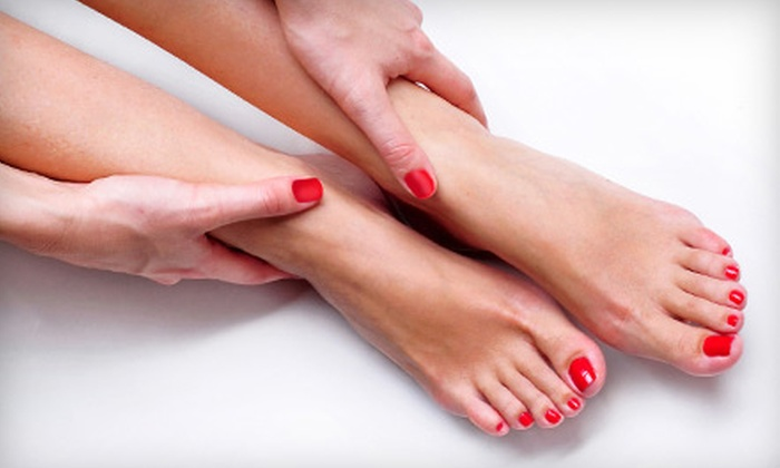 Trendsetters Salon and Spa - Elgin: $32 for a No-Chip Shellac Manicure and an Express Pedicure at Trendsetters Salon and Spa in Elgin ($65 Value)