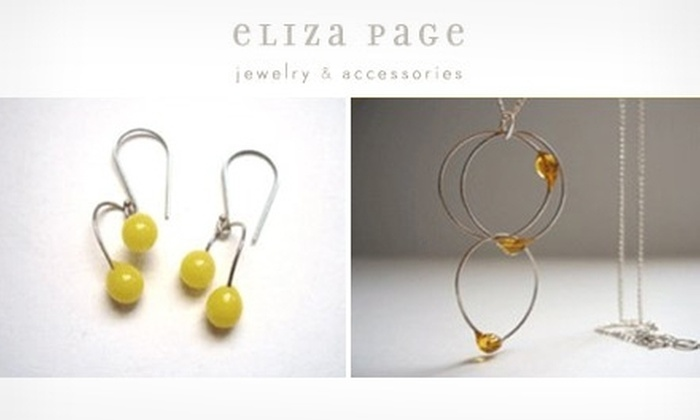Eliza Page - Downtown: $25 for $50 Worth of Jewelry at Eliza Page