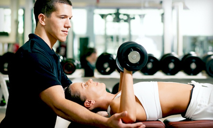 Vision Quest Sport and Fitness - Multiple Locations: Six-Week Gym-Membership Package with Three Personal-Training Sessions and Unlimited Tanning ($324 Value)