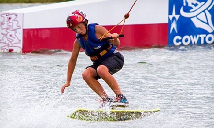 Cowtown Wakepark - Fort Worth: Wakeboarding for Two, Day of Summer Camp, or Five Half Days of Camp with Gear Rental at Cowtown Wakepark (Up to 51% Off)