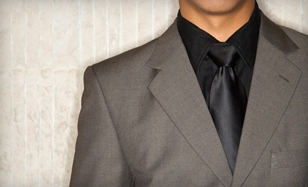 Custom Suit Package ($1,198 total) Including One Fitted Shirt ($199), One Italian Silk Tie ($100) and One Suit ($899) - Top Hat & Tails in Maplewood