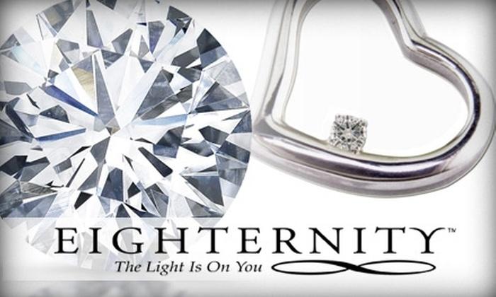 Eighternity.com - Palos Verdes Peninsula: $129 Eighternity Diamond Pendant Silver Necklace at Medawar Fine Jewelers
