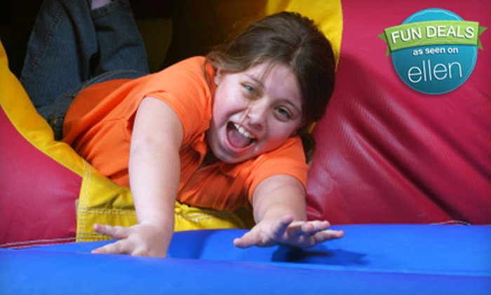 The Bounce House - Multiple Locations: $16 for a Bounce-House Outing with Sodas and Chips for Four at Bounce House (Up to $40 Value)