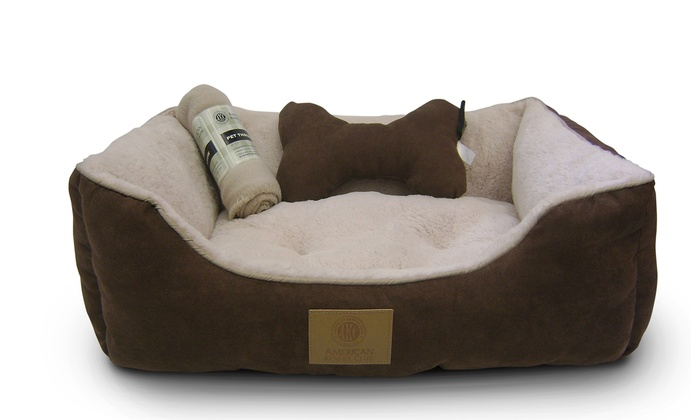 AKC Pet Bed Set with Pillow and Blanket Groupon
