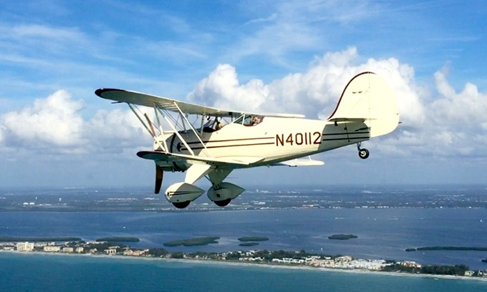 Sarasota Biplane Adventures - Sarasota: Flying Tours from Sarasota Biplane Adventures (Up to 32% Off). Four Options Available.