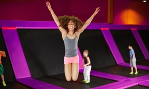 Jumpoline Family Fun Center: Two Hours of Trampoline Jump Time for One or Two at Jumpoline Family Fun Center (Up to 44%Off)