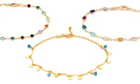 GROUPON: Crystal Ankle Bracelets with Swarovski Elements Crystal Ankle Bracelets with Swarovski Elements