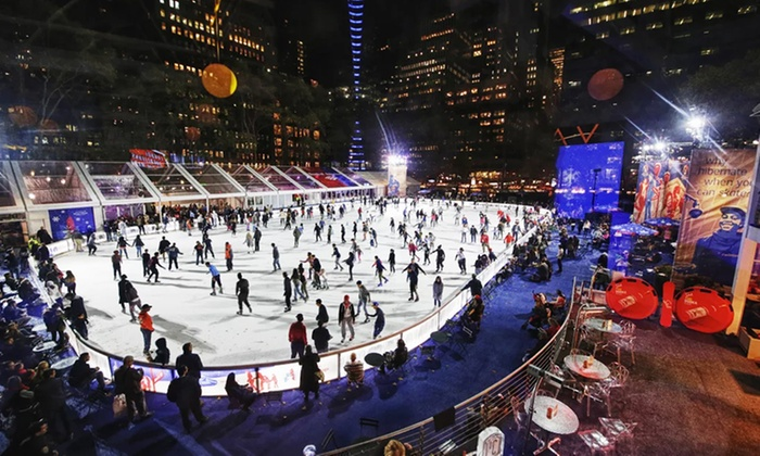 Winter Village - Midtown - Winter Village at Bryant Park: Ice Skating Passes with Optional Dinner (Up to 48% Off). Four Options Available.