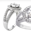 $17.99 for Sterling Silver Ring with Created White Sapphire