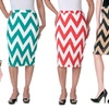Women's Chevron Pencil Skirt Riverberry by Moa Collection