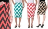 Women's Chevron Pencil Skirt Riverberry by Moa Collection: Women's Chevron Pencil Skirt Riverberry by Moa Collection