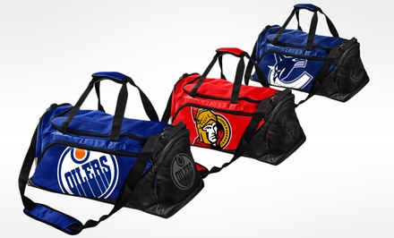 Forever Collectibles NHL Medium Locker Room Duffle Bags. Multiple Canadian Teams Available.