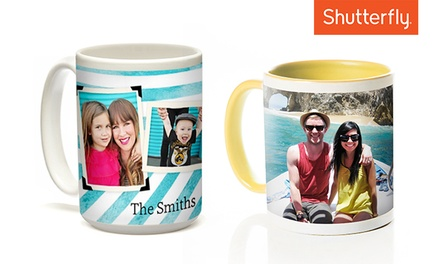 $9.99 for One Customized Ceramic Mug from Shutterfly (Up to $21.99 Value)
