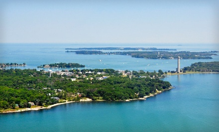 groupon daily deal - 2- or 3-Night Stay for 8 with Golf-Cart Rental and Dining Credit at Island Club in Put-in-Bay, OH