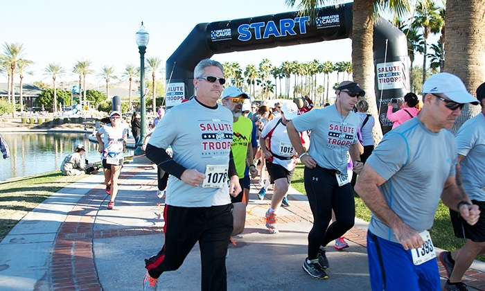 Salute Our Troops Run - Estrella Lakeside: One 5K or 10K Entry to the Salute Our Troops Run on Saturday, November 1 (Up to 52% Off)