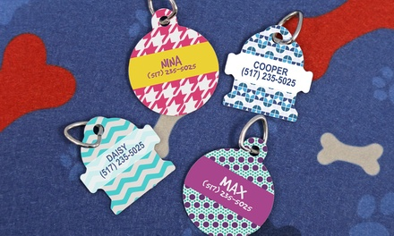 One or Two Personalized Dog Tags from Monogram Online (Up to 62% Off)